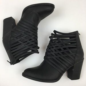 Mossimo Supply Co. Black Strap Booties Size 7.5